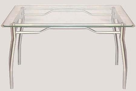 Modernas mesas de vidrio for Mesa de vidrio rectangular