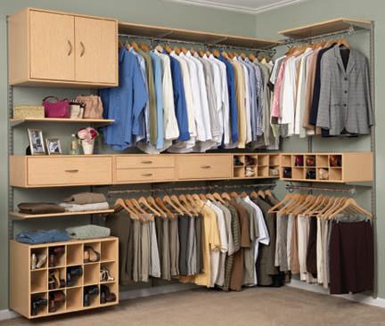 El closet y el armario