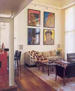 Decoracion con cuadros en la casa