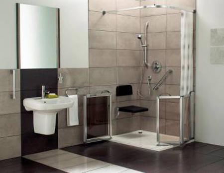 Comprar e instalar duchas para discapacitados y ancianos - Como montar mampara de ducha ...