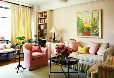 Un living decorado frances