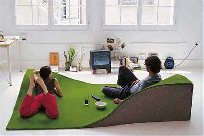 Sala de juegos con alfombra