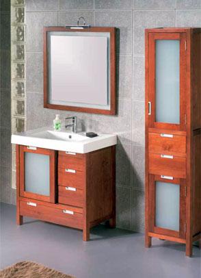 Muebles modernos del baño
