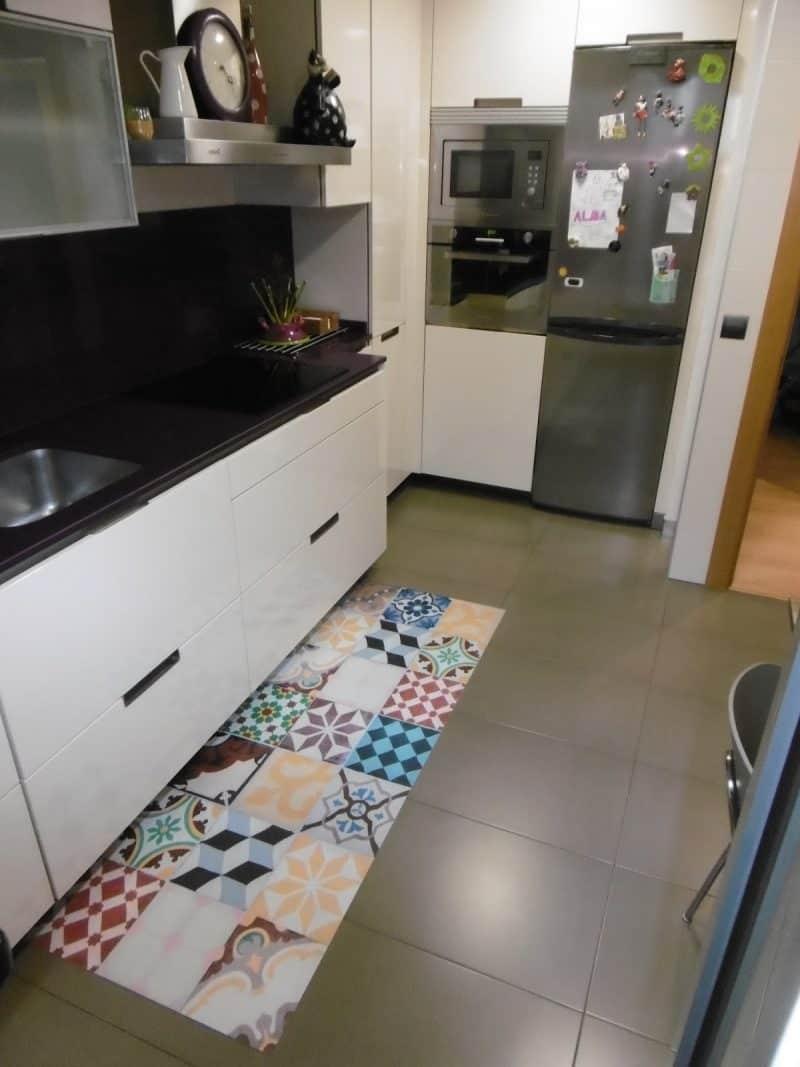 20 consejos sobre decoraci n de cocinas - Alfombras de vinilo para cocina ...
