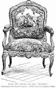Sillón estilo francés Luis XV