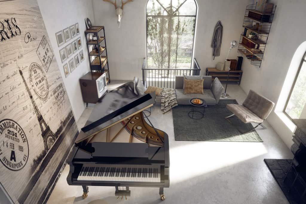 Piano como Decoración