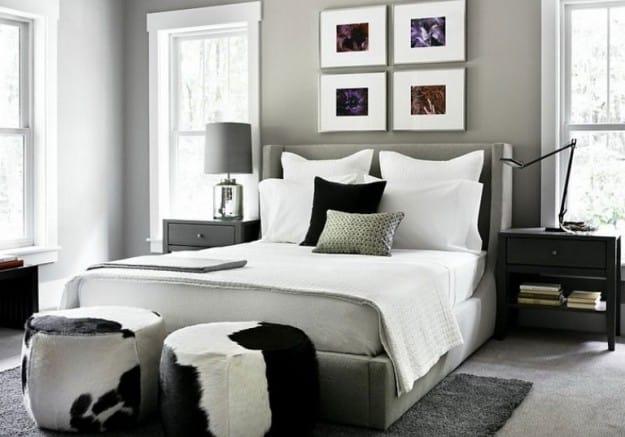 Si Deseas Tener Todo El Dormitorio De Color Gris; Entonces Te Recomendamos  Que Utilices Un Tono Claro; Con Elementos De Color Blanco Y Negro Hace Que  El ...