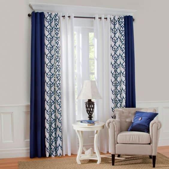 Cortinas pintadas a mano para las habitaciones for Modelos de cortinas para habitaciones