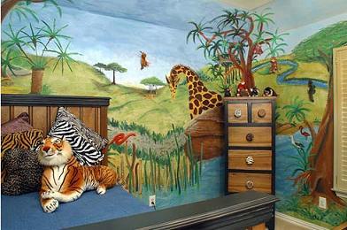Decore el cuarto de los niños con motivos de animales.