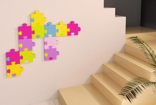 paredes con rompecabezas