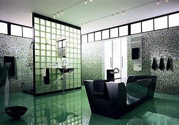 Colores en la decoración de baños, bloques