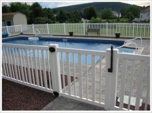 Cerco perimetral para la seguridad en las piscinas.