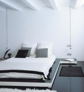 La iluminación del dormitorio.