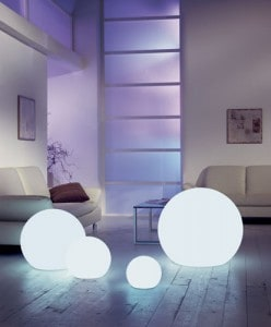 La iluminación del hogar.