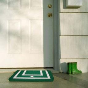 Alfombras a la entrada del hogar.