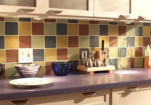 Mesadas de cocina con azulejos de cer mica - Azulejos rusticos para cocina ...