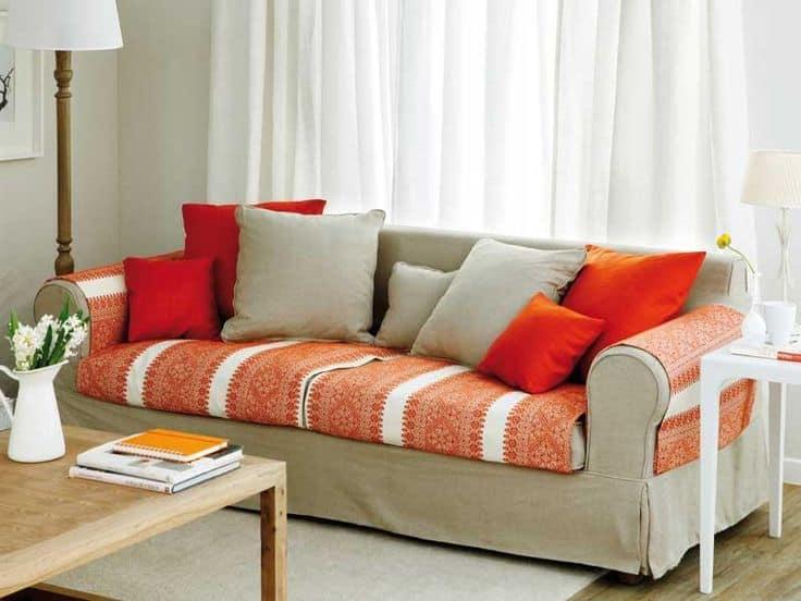 Fundas para el sof f cil y r pido cambio de imagen - Telas cubre sofas ...