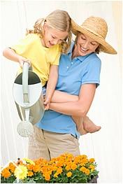 Beneficios de jardinería para niños.