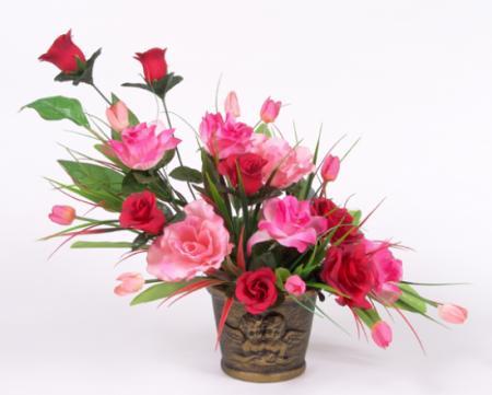 Flores artificiales.