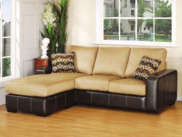 Colocan un sof seccional en la sala de estar - Muebles de salita de estar ...