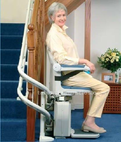 Facilidad de movimiento con sillas elevadoras en casa - Silla elevadora para escaleras ...
