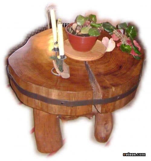 Muebles de troncos r sticos la magia de la madera - Decoracion troncos madera ...