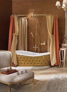 Agregue lujo a su baño con barrales de cortina curvos - VisitaCasas.com