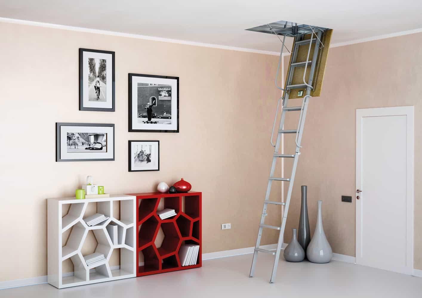 7 consejos para instalar escaleras retra bles for Escaleras en poco espacio