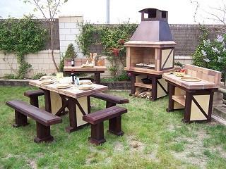 Opciones de barbacoas para exteriores for Antorchas para jardin combustible