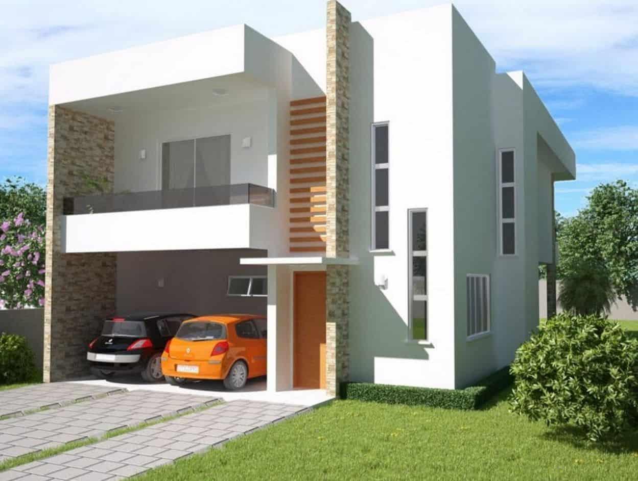 20 fachadas de casas para inspirarte for Fachadas de casas segundo piso