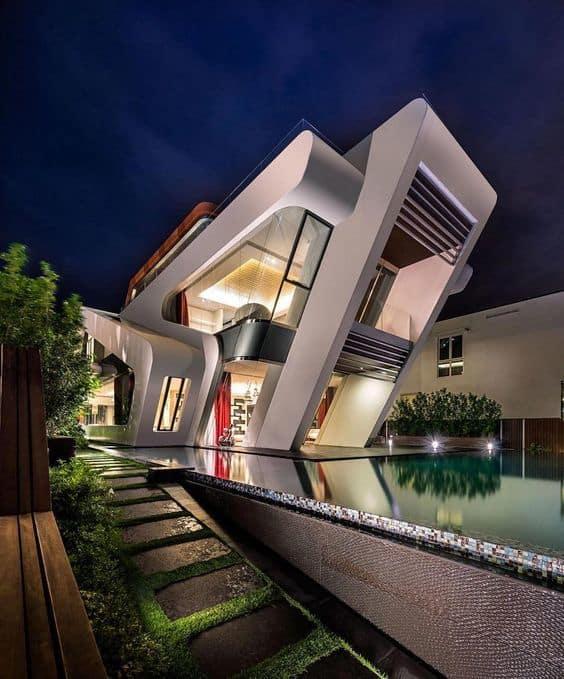 20 modelos de casas prefabricadas de hormig n for Ultra modern house plans for sale